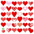 Hearts set — Stock Vector #7987710