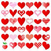 Hjärtan set — Stockvektor