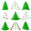 Christmas trees collection — Stock Vector #8082185