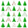 Christmas trees — Vector de stock