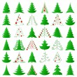 Royalty-Free Stock Imagem Vetorial: Christmas trees