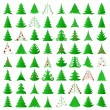 Christmas trees collection — Vector de stock #8360031