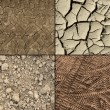 Stock Photo: Ground textures set
