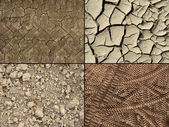 Ground textures set — Stock Photo