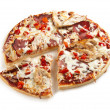 Royalty-Free Stock Photo: Meat and chicken pizza
