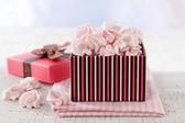 Pink meringue cookies — Stock Photo