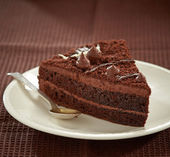 Chocolate cake slice — Foto de Stock
