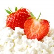 Strawberries and cottage cheese — Stock Photo #9688966