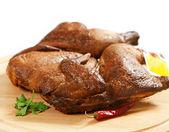 Delicious smoked chicken — Stock Photo