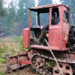 Stock Photo: Tractor. Wood.