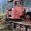 Tractor. Wood. - Stock Photo