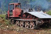 Traktor. holz. — Stockfoto