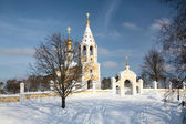 Russian orthodox church in winter — Stock Photo