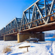 Stock Photo: Snowy bridge