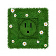 Green socket — Stock Photo