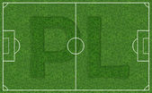 Piłka nożna pole stadion — Zdjęcie stockowe
