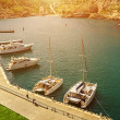 Yacht marina in the sunlight — Stock Photo