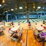 Interior of a bowling center — Stock Photo
