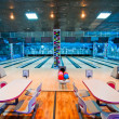 Interior of a bowling center — Stock Photo