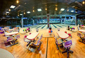 Interior of a bowling center — Foto Stock