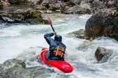 Extreme kayaking — Stock Photo