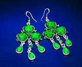 Jewelry with green gemstone — Stock Photo