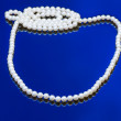 Stock Photo: Neklace of white pearl