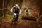 Rider on a mountain bike — Stock Photo
