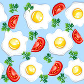 Seamless breakfast pattern — Stock Vector