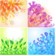 Floral backgrounds — Stock Vector #10050061