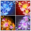Set of floral backgrounds — Imagen vectorial