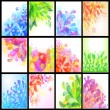 Set of floral backgrounds — Stock Vector #10050087