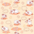 Seamless pattern with cute sheeps — Stock Vector #10050658