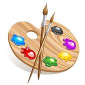 Art palette — Stock Vector