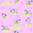 Seamless pattern with cute sheeps — Stock Vector #10357267