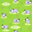 Seamless pattern with cute sheeps — Stock Vector #10357271
