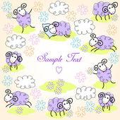 Cute sheeps — Stock Vector