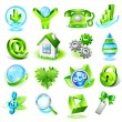 set of eco icons — Stock Vector #10487525
