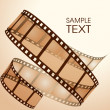 Old film strip — Stock Vector