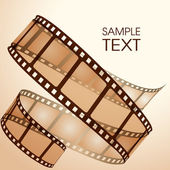 Old film strip — Vector de stock