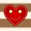 Cute smiling heart — Vector de stock