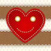 Serce uśmiechający się ładny — Wektor stockowy