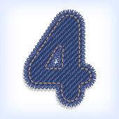 Цифра джинсы алфавит — Cтоковый вектор