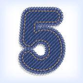Digit of jeans alphabet — Stock Vector