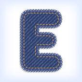 Jeans alphabet — Stock Vector