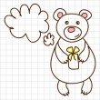 Royalty-Free Stock Vector Image: Cute bear