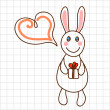 Royalty-Free Stock Vector Image: Cute bunny