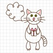 Cute cat — Stock Vector