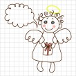 Cute angel - Stock Vector