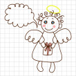 Royalty-Free Stock Векторное изображение: Cute angel